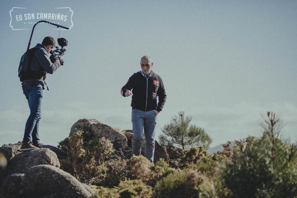Grabación de Eu Son Camariñas en Xaviña con David Carril