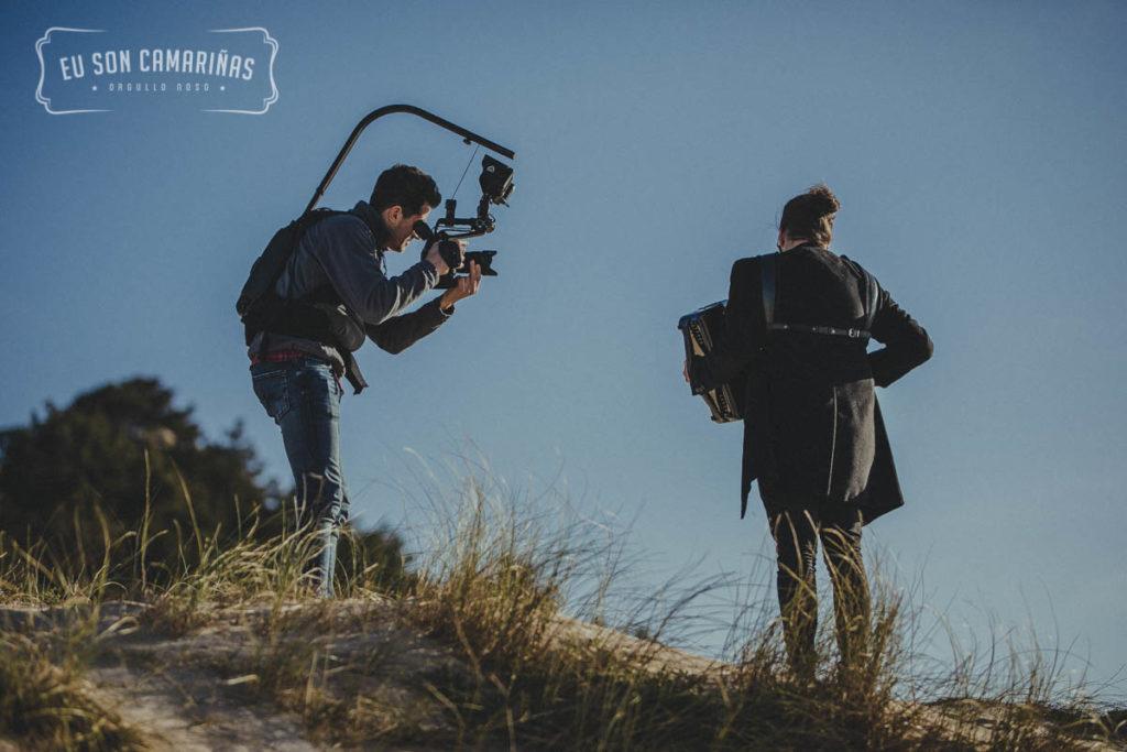 Xornal de grabación do video-clip Eu Son Camariñas en Monte Branco e Trece con Fran Barcia